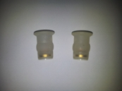 PAIR BLIND HOLE FIXING PLUGS FOR TOP FIX TOILET SEAT